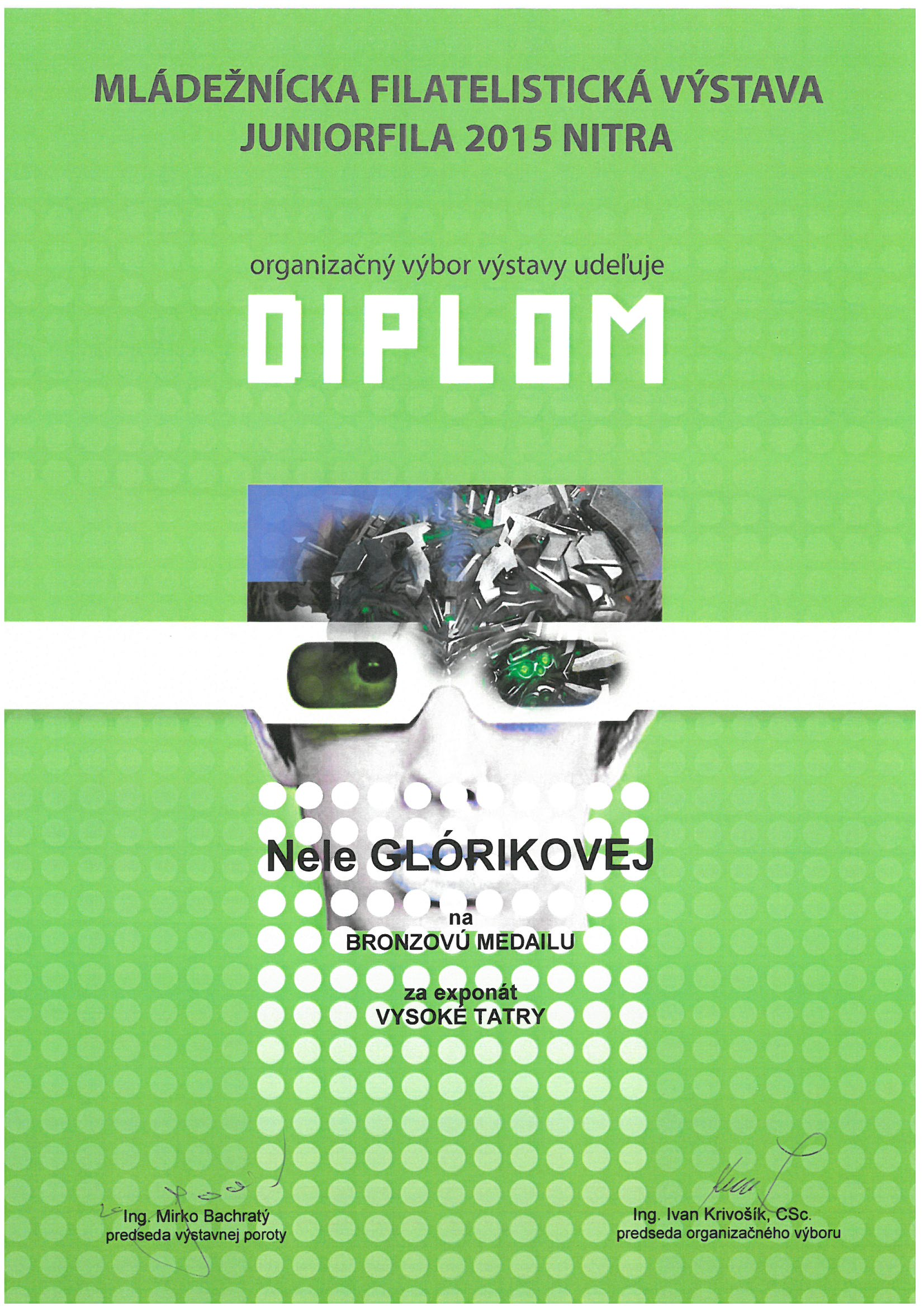 JUNIORFILA 2015 diplom